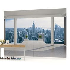 New York City Skyline Urban Photo Wallpaper Mural (1323VEVE). This wallpaper mural is printed on 130gsmEasyInstall Non-Woven Paper. This wallpaper mural is available in the following dimensions 1000's of AmazingPhoto Wallpaper Murals ,Wallpapers &Canvas Prints! | eBay!