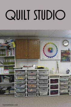 Visit My Quilt Studio Sewing Room Design, Sewing Spaces, Sewing Studio, Sewing Rooms, Sewing Room Furniture, Sewing Room Decor, Sewing Room Organization, Studio Organization, Organization Ideas