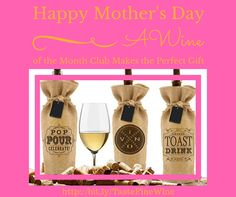 A 2 or 4 Bottle Wine of the Month Club Membership would make the Perfect #MothersDay #Gift These Limited Artisian wines are from small vineyards from around the world ....  Cancel at any time #Satisfaction #Guaranteed ~ Choose Reds, whites or a combination shipment.  Great for any gift giving #Occasion  Take a look at https://mydcwineclub.com/TasteFineWine/wines  for more details.   Message me if you have any questions $49.95  #WineTastingClub #WineToYourDoor #wine