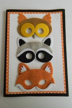Handmade Halloween Felt Mask Card by charmingcardshop on Etsy, $7.00
