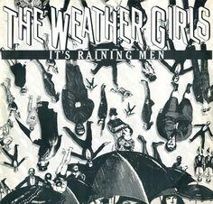Raining men with umbrellas