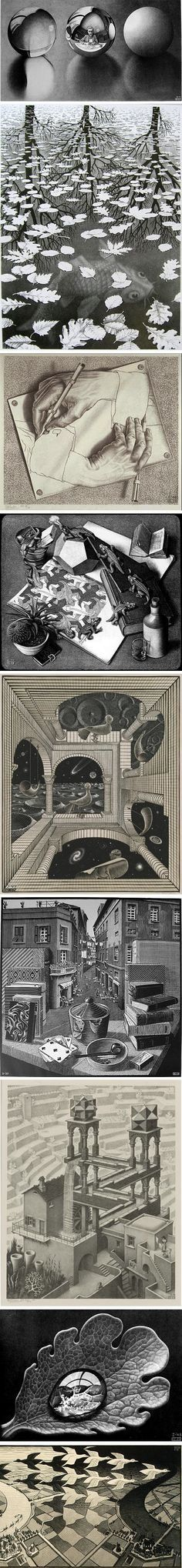 m-c-escher✖️More Pins Like This One At FOSTERGINGER @ Pinterest✖️