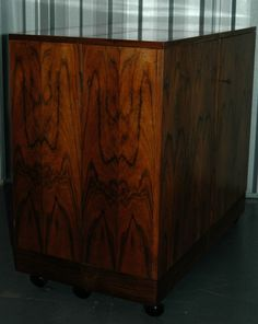 Vintage+1960s+70s+rosewood+bar+cart+/+cabinet+by+Bruksbo+Norway+Danish+retro+era