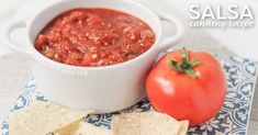 If you've ever wanted to try canning salsa, you HAVE to try this homemade salsa recipe! It's the best salsa I've ever made!