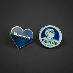 Bernie Sanders Enamel Pins by Hooptedoodle on Etsy. 1/2 Proceeds from sales go to the Bernie campaign!
