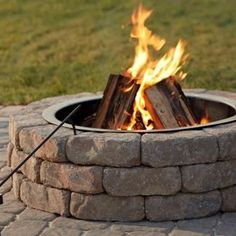 Build your own fire pit to match your outdoor décor and personal style. #fathersday #giftidea