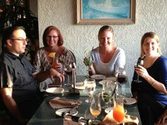 Derrick, Laura, Danielle and Beth - toasting the launch of our new website! #corporateculture #employees #guidance