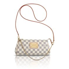 Louis Vuitton Eva Clutch. I absolutely love the Damier Azur canvas. It looks good on everything.