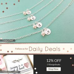 Today Only! 12% OFF this item.  Follow us on Pinterest to be the first to see our exciting Daily Deals. Today's Product: Initial Bracelet - Pearl Bracelet - Personalized Bracelet - Sterling Silver - Freshwater Pearl - Bridesmaid Gift - Personalized Jewelry Buy now: https://www.etsy.com/listing/267937189?utm_source=Pinterest&utm_medium=Orangetwig_Marketing&utm_campaign=Untitled%20Daily%20Deal%2026th%20April #etsy #etsyseller #etsyshop #etsylove #etsyfinds #etsygifts #musthave #loveit…
