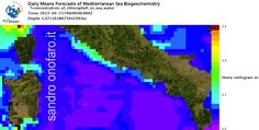 21/04/2013 central #Italy - #chlorophyll #mediterranean #sea #forecast #meteo #mare #clorofilla