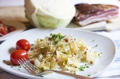 Krautfleckerl Bastilla, Pasta, Spicy Recipes, Frittata, Polenta, Risotto, Potato Salad, Cabbage, Low Carb