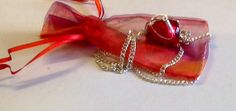 Pendant Bead  Red  Wire Wrapped by ElainesJewells on Etsy, £15.00