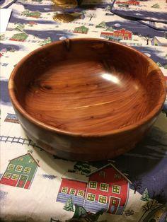"Large cedar bowl 11"" x 3"""