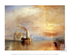 The Fighting Temeraire Art Print by J. M. W. Turner at Art.com