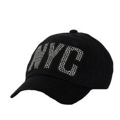 131e5e0ae5e0 NYC cap with crystal rhinestones