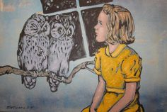 David Bromley – Girl with Owls