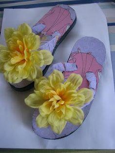 DIY flip flop makeover just