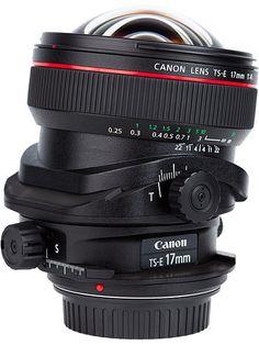 Canon TS-E 17 mm f4.0 L Tilt-Shift Lens.