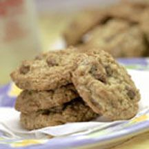 Oatmeal Buncha Crunch Cookies - Crunchy bits of chocolate fill these not-so-traditional oatmeal cookies. They make great snacks to serve after school or add to lunch boxes.