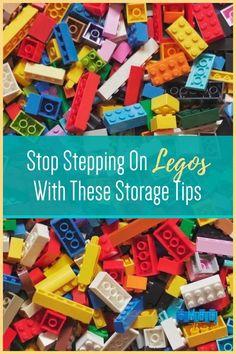 Lego Storage and Organization Ideas - Under Bed Lego Storage - Lego Storage Tables and Ideas Clutter Organization, Small Space Organization, Playroom Organization, Organization Ideas, Lego Table With Storage, Lego Storage, Step On A Lego, Toy Bins, Cleaning Toys