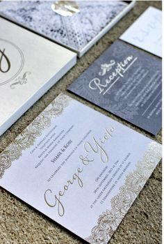 Wedding invites I designed for Yiota & George