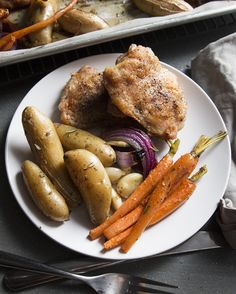 Easy One-Tray Chicken and Veggies