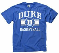 Duke Blue Devils Royal Wide Stripe Basketball T-Shirt by New Agenda. $14.99. New Agenda Wide Stripe Basketball T-Shirt. Rib knit collar. Screen print graphics. Officially licensed. 100% Cotton. Express yourself in stylish fashion with this Duke Blue Devils Royal Wide Stripe Basketball T-Shirt. This great piece of Blue Devils apparel features 100% quality cotton construction, rib knit collar and screen print graphics, making it a great piece of Duke Blue Devils gear t...