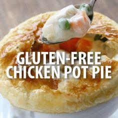 Gluten-Free Cookbook & Chicken Pot Pie Recipe -- *use half block of cream cheese to add to the filling in place of milk/cream