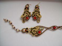 """""""BUTTERFLY HEART"""" earrings and bracelet"""