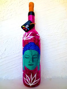 Handpainted Buddha on glass bottles. Only at artzolo.com Buy here:- http://www.artzolo.com/craft/shades-buddha-hand-painted-glass-bottles