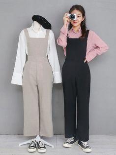 마리쉬♥패션 트렌드북! Kpop Fashion Outfits, Ulzzang Fashion, Edgy Outfits, Cute Casual Outfits, Simple Outfits, Hijab Fashion, Korean Outfit Street Styles, Korean Street Fashion, Korean Outfits
