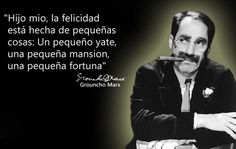 Frase chistosa de Groucho Marx Me Quotes, Funny Quotes, Typography Quotes, Clint Eastwood, Peace Of Mind, Funny Pictures, Hilarious, Thoughts, Feelings