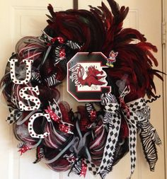 University of SC Gamecocks Wreath by PurplePetalDesign on Etsy, $75.00