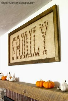 needlepoint, cross stich on burlap | ... burlap to the back and sewed the giant cross stitch using brown yarn