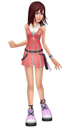 Kairi is one of several original characters appearing in Kingdom Hearts, and is also one of the main characters in the series. She is the original persona of Naminé. Kairi was born in Radiant Garden and currently lives on Destiny Islands along with her two best friends, Sora and Riku. She is four during Kingdom Hearts Birth by Sleep, fourteen at the start of Kingdom Hearts, fifteen during Kingdom Hearts II and sixteen during the events of Kingdom Hearts 3D: Dream Drop Distance. Kairi's…