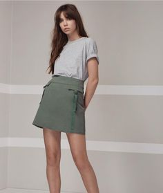 Insider Skirt  Off Duty Tee. Because khaki can do no wrong.  #fashionbackroom . . . . . . #style #fashion #onlineshopping #fashionblogger #ootd #expressdelivery #sydneyfashionblogger #melbournefashionblogger #modellife #luxe #outfitgoals
