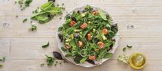 This beautiful green salad looks just stunning and in this instance, looks are not deceiving; the salad contains the best green leaves, full of vitamins and minerals, plus healthy fats and oils. You can change the flavours of the goat's cheese to suit your personal taste. Great for lactose-intolerant peeps, too.