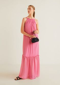 91668f7730 Długa sukienka z falbanami - Kobieta. MangoSuknieFormalne Sukienki ModaFalbany