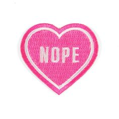 "For that special person in your life - Embroidered fluorescent pink patch - Iron-on adhesive backing - Measures 2"" tall x 2"" wide"