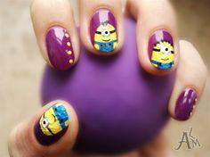 Minions! Bananaaaa :) by ALM - Nail Art Gallery nailartgallery.nailsmag.com by Nails Magazine www.nailsmag.com #nailart
