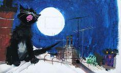 Illustration by Janusz Grabianski Animated Clipart, Gatos Cats, Kunst Poster, Great Paintings, Cat Art, Art Pictures, Art Museum, Illustrators, Folk Art