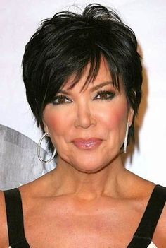 Kris Jenner Haircut Pictures Back View Short Hairstyle . Short Hairstyles For Thick Hair, Mom Hairstyles, Short Hair Cuts For Women, Curly Hair Styles, Short Haircuts, Hairstyle Ideas, Classy Hairstyles, Textured Hairstyles, Haircut Images