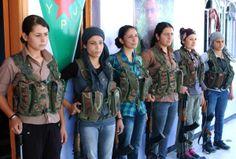 YPG kurdish women warriors