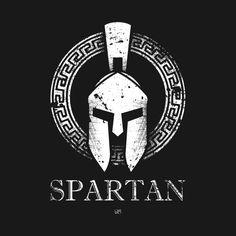 SPARTAN VECTOR WITH HELMET SHIELD AND SPEAR | Spartiate ...