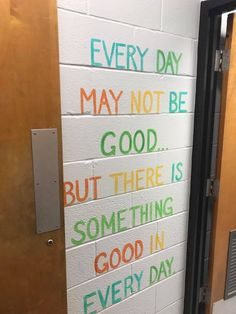 Murals in a middle school bathroom are inspiring girls to be kinder — both to themselves and others. Classroom Quotes, Classroom Door, Classroom Design, Future Classroom, School Classroom, Classroom Organization, School Counselor Door, Classroom Wall Decor, Classroom Ideas