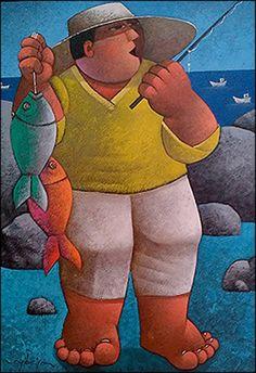 Fisherman by Osvaldo Ribeiro