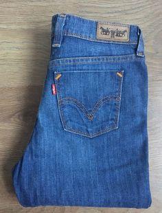 37ac69ee4b Levis 629 Bootcut Womens Jeans W30 L34 High Rise Dark Blue Tall Denim Levi