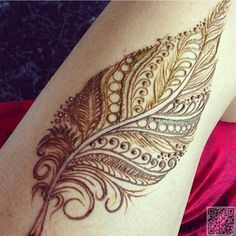 11. #Золотое перо - 35 невероятное хна тату #дизайн вдохновения... → #Beauty