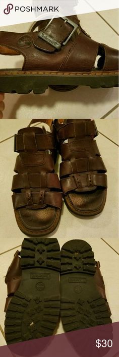 Men's Sandals Preloved men's Sandals  Dark brown,  in good condition. Timberland Shoes Sandals & Flip-Flops