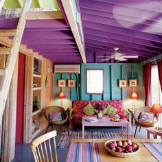 Purple living-room.
